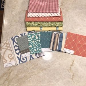 Curtain/Upholstery fabric and swatches